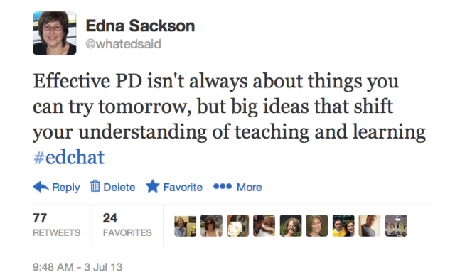 10 principles of effective professional learning… – What Ed Said